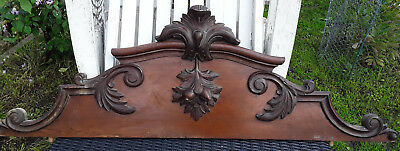Antique French Pediment Fronton 45 In / Good Antique Condition