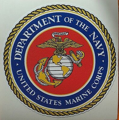 "US ARMY, ""Department of the Navy - US Marine Corps"", Militär Sticker, Aufkleber"