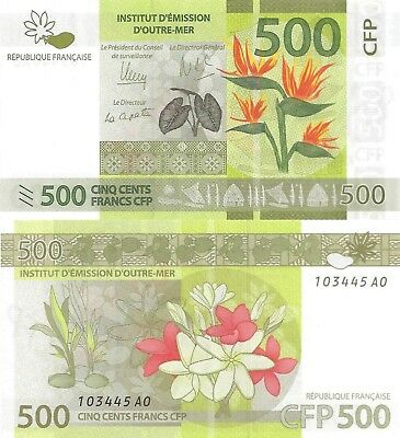 French Pacific Territory 500 Francs (2014) - Island Flowers/p5 UNC