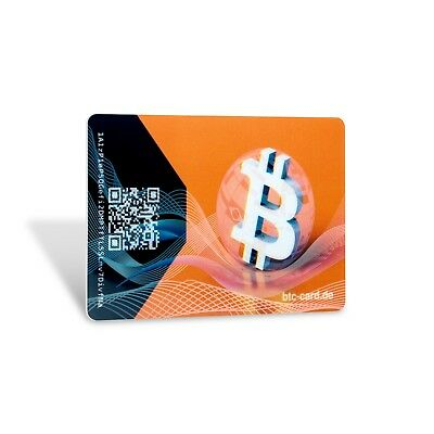 2x Bitcoin Offline Wallet BTC Card