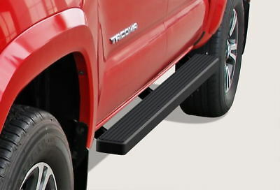 """iBoard Running Boards 4"""" Matte Black Fit 05-18 Toyota Tacoma Double Cab/Crew Cab"""