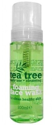 1 x 200ml Tea Tree Foaming Face Wash - Daily Use for Healthy, Clean Skin