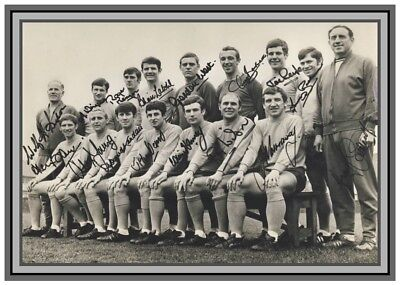 Collectors/Photograph/Print/1968/Everton/Team Photo/Signed/FA Cup Final