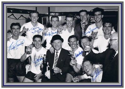 Collectors/Photograph/Print/Tottenham Hotspur/Spurs/Signed Photo/1961 Double