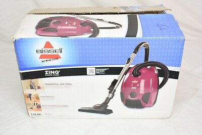 BISSELL Zing Bagged Canister Vacuum, Purple, 4122 Corded NOB
