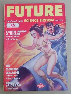 FUTURE SCIENCE FICTION STORIES VINTAGE JULY 1950 PULP GOOD GIRL COVER ART 1950s*