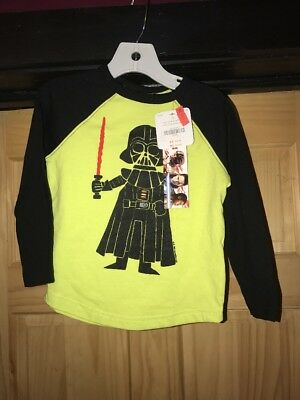 Gymboree boys size 2t Star Wars Darth Vader Shirt NWT