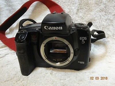 Canon Eos 5 Quartz Date 35Mm Film Camera~Eye Control~Shooting Modes 18M13