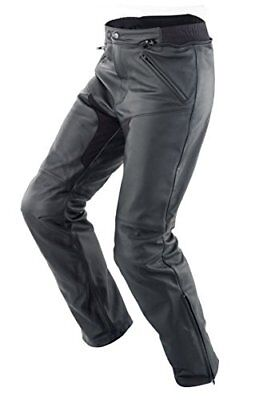 SPIDI - Pantaloni da Moto in Pelle New Naked, Nero, 46 (X7H)
