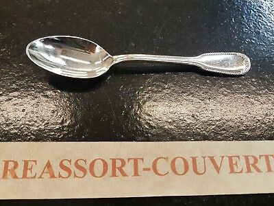 Spoon Cafe Expresso Ercuis Carthage 13.5 Cm Silvered Metal 0703 17 Other Antique Decorative Arts