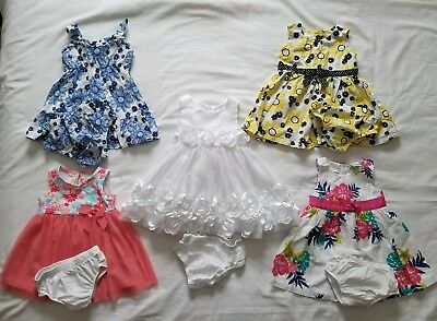 Girls 6/9 9 months Spring Summer clothing outfits dresses clothes lot