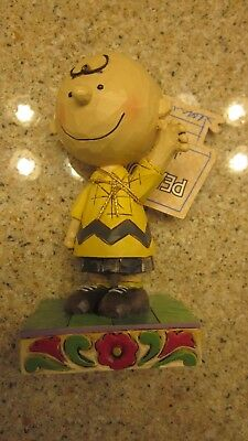 Peanuts by Jim Shore Good Man Charlie Brown Statue New