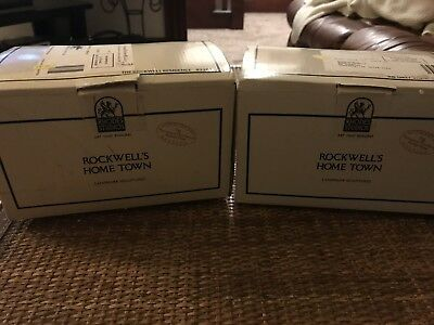 Rhodes Studios Rockwell's Home Town Lot (Mint In Original Boxes)
