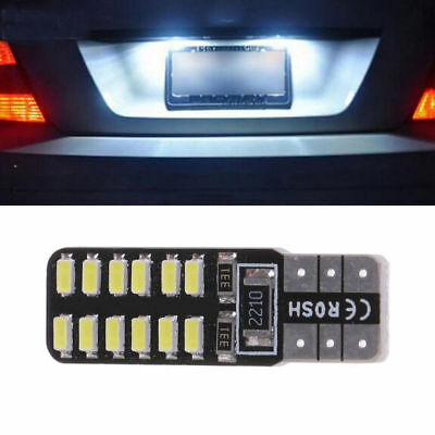 2X T10 LED 194 W5W CANBUS 3014 24-SMD LED ERROR FREE Car Side Wedge Light White