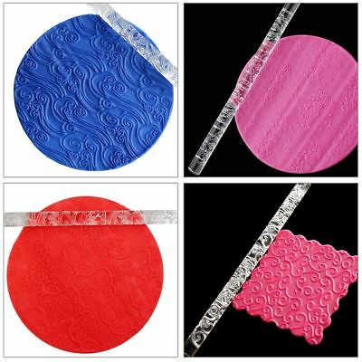 21 Styles Decoration Acrylic Pastry Roller Baking Tools Rolling Pin Embossing