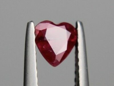 Natural Thai Ruby SI1 0.61ct 5x5mm Loose Gemstone Heart Cut Not Treated