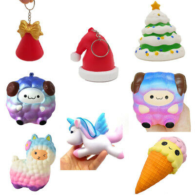Jumbo Sheep Squishy Alpaca Galaxy Christmas tree hat Slow Rising Scented Fun Toy