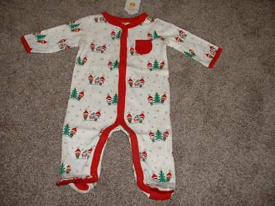 gymboree baby elf one piece pajamas sleeper christmas newborn 0 3 6 months nwt