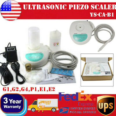 Dental Lab Portable Ultrasonic Piezo Scaler Self Contained 2 Water Bottle+6 Tips