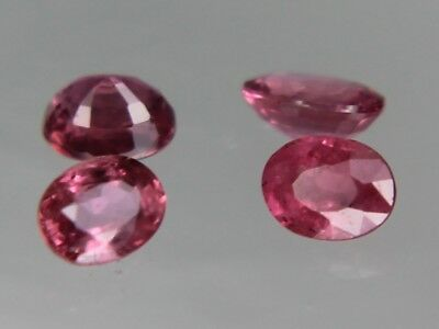 Natural Thai Ruby 4.5x3.5mm 0.31ct Loose Gemstone Oval Cut Not Treated