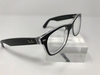 2e20b4f753c Ray Ban Sunglasses RB2132 NEW WAYFARER 6052 55-18-145 Black Crystal Italy