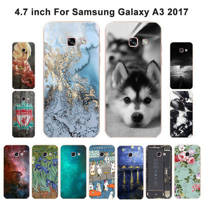 Soft TPU Silicone Case For Samsung Galaxy A3 2017 SM-A320F Back Cover Skin View