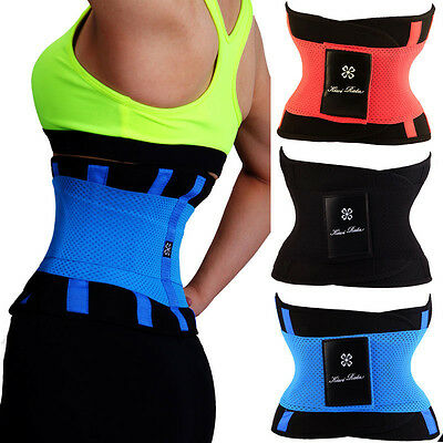 Yoga Slim Fit Waist Trimmer Belt Trainer Girdle Weight Loss Burn Fat Body Shaper