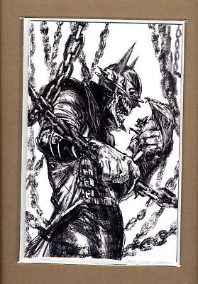 Dark Nights Metal 5 Dell'otto B&w Virgin Variant Batman Who Laughs Lim 1500