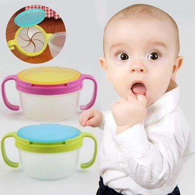 Infants Spill-Proof Bowl Dish Baby Snack Bowl Food Container Feeding Assist Food