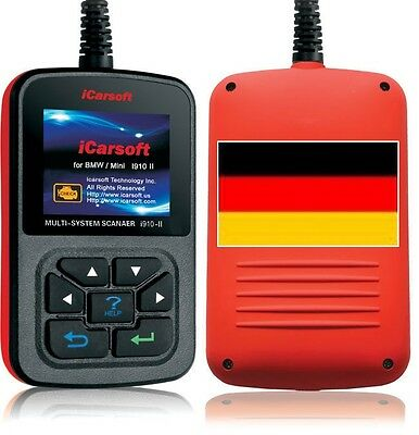 iCarsoft i910 II + Service Reset Öl für BMW Diagnose Motor Getriebe ABS Airbag