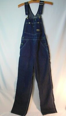 VTG Oshkosh B'Gosh Vestbak Sanforized Denim Overalls Union Made Women's Size 28