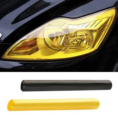 30 x 120cm Yellow Car Tint Film Headlight Tail Light Tinting Van Wrap Sheet