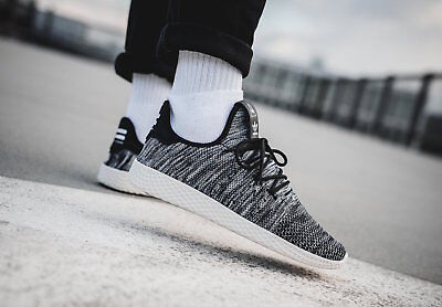 newest 02536 48cde adidas x Pharrell Williams Tennis Hu OREO Black White Mens Trainers Shoes 5  - 13