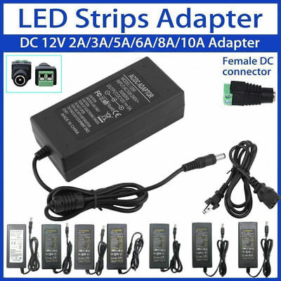 12V 2A-10A AC to DC Adapter Power Supply for 3528 Flexible LED Light Strip 5050