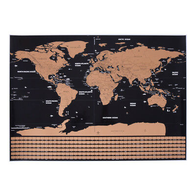 Map Of The World Travel Edition Deluxe Scratch Off Map World Maps Poster Gift 1x