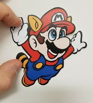 Super Mario 2 contour decal. 4 x 4. (Buy  3 stickers, GET ONE FREE!)