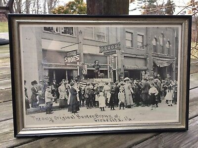Buster Brown Advertising Print Framed Grove City, Pa. 18x12