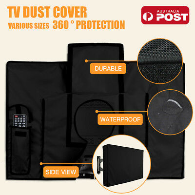"30""-65"" Inch Waterproof TV Cover Outdoor Patio Flat Television Protector Black"