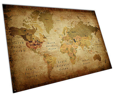 RETRO VINTAGE WORLD MAP WALL ART EXTRA-LARGE A0 POSTER 1189mm x 841mm