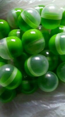 24 easter egg hunt capsules. Green dome shape Empty, fill with sweets, toys etc.