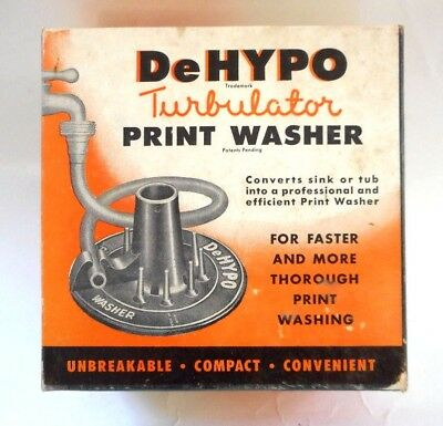 Vintage GANZ DeHYPO Photo Print Washer Washing System for Darkroom TURBULATOR