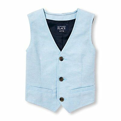 The Children's Place Baby-Boys Cute Waistcoat, Sky Blue, 12-18 months, NWT