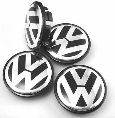 4x 65mm original volkswagen nabendeckel felgendeckel. Black Bedroom Furniture Sets. Home Design Ideas
