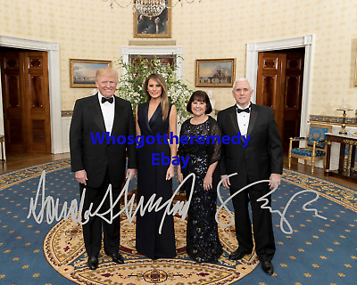 Donald Trump & Mike Pence Pre-printed Autographed 8x10 Photo - FREE SHIPPING