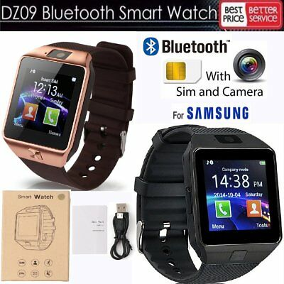 DZ09 Smartwatch Android Handyuhr Bluetooth GSM SIM Camera für Samsung iOS iPhone