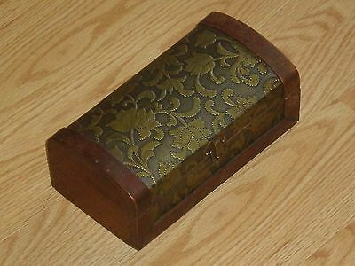 Vintage Hand Made Colorfull Wooden Jewelry Box Rare Old Style Flowers Lists Nice