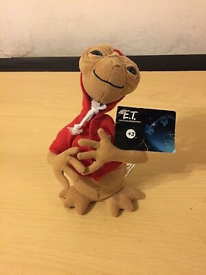 """E.T. The Extra Terrestrial with Hoodie 8"""" Plush Soft Toy With Tags"""