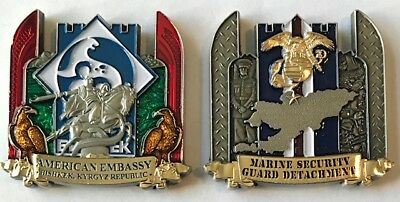 MSG-Det Marine Security Guard Detachment Bishkek, Kyrgyz Republic Challenge Coin
