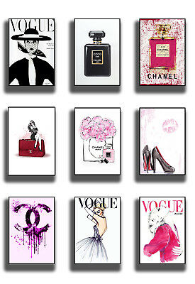 Vogue Fashion Print Poster Wall Art A5 A4 A3 Girls Paris Decor Boutique Salon