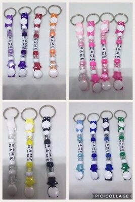 ❤️Personalised bead keyrings ❤️Any Name...Any Colour Buy 2 Get 1 Free